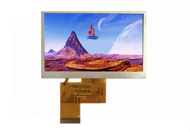 Custom Transparent 4.3 TFT LCD Display , 480 * 272 Dot TFT Color Screen With 24 Bit